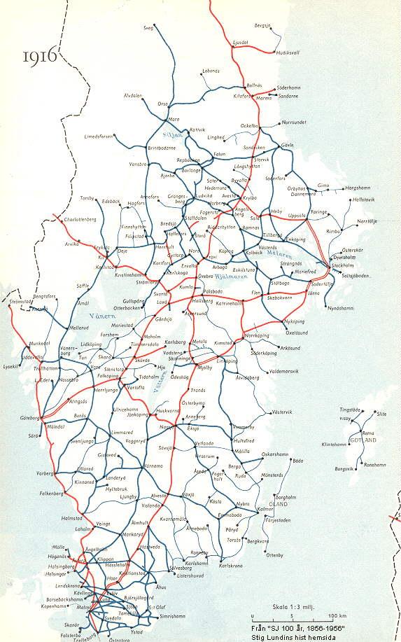 sj karta Historisk information om järnvägar sj karta