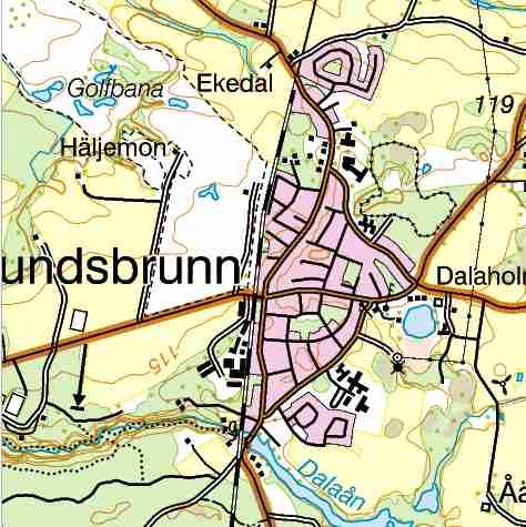 lundsbrunn karta Västergötland   Göteborgs Järnväg (VGJ) lundsbrunn karta